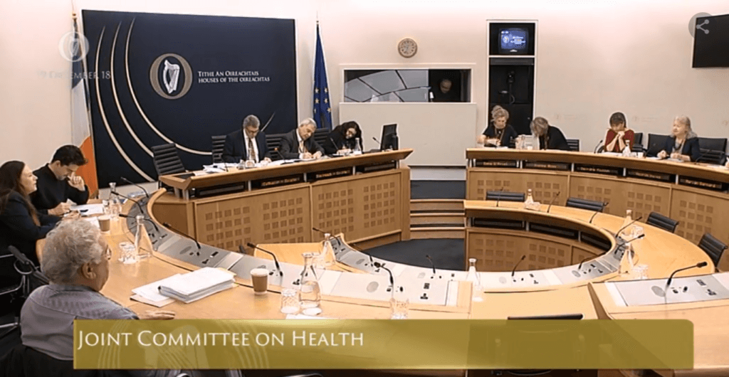 Joint Committee on Health discussion of AHR Bill