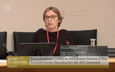 LGBT Ireland Addresses Joint Health Committee on AHR Bill