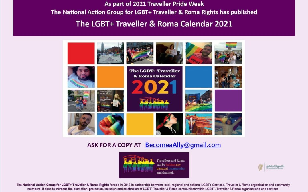LGBT+ Traveller & Roma Action Group produces first LGBT+ Traveller & Roma Calendar in 2021