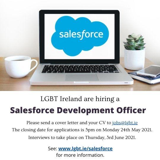 LGBT Ireland are hiring a Salesforce Development Officer